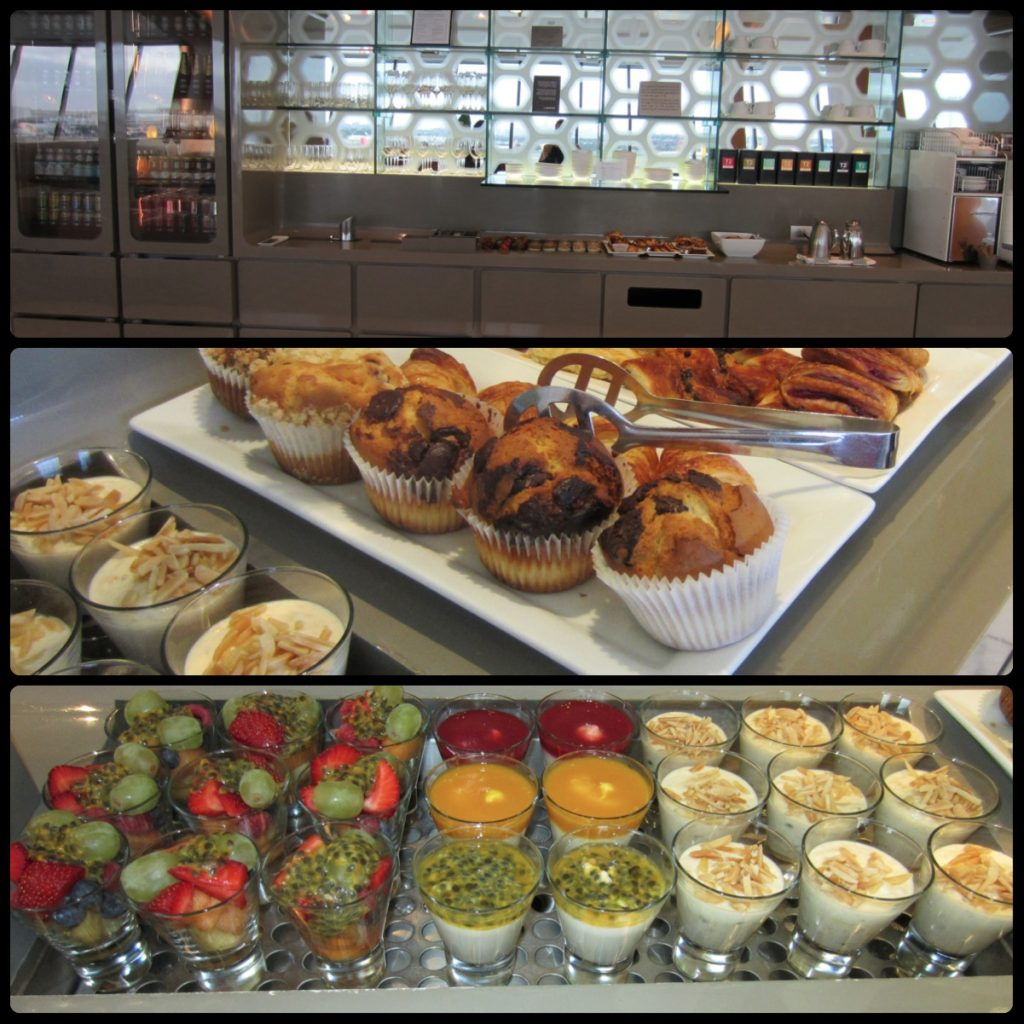First Class Lounge food