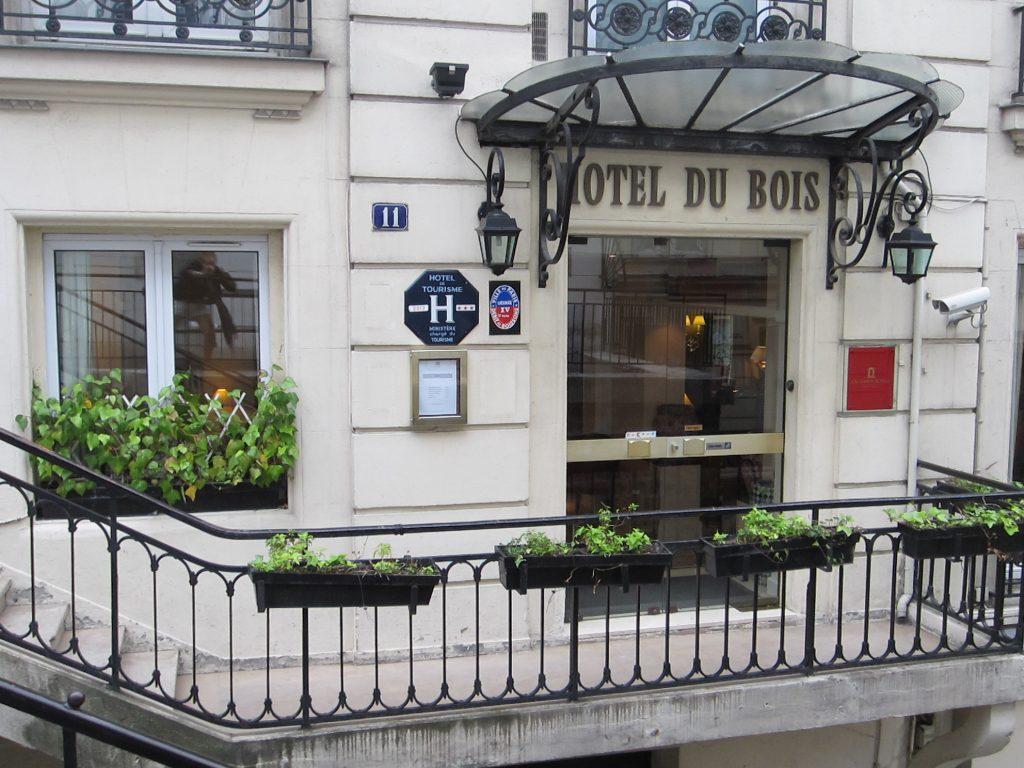 front Hotel Du Bois Paris