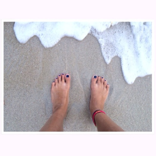 Feet in the sand instagram