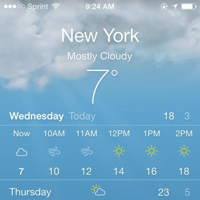 weather screenshot instagram